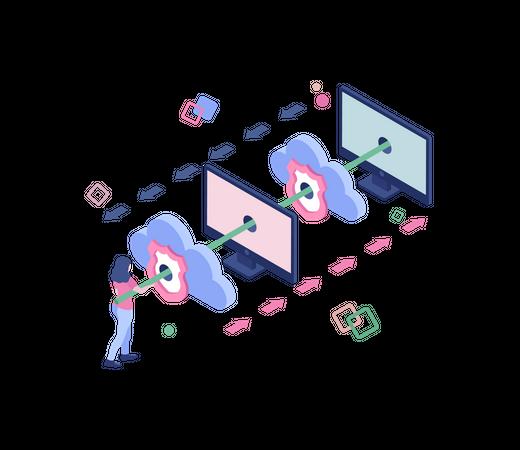 Secure data exchange Illustration