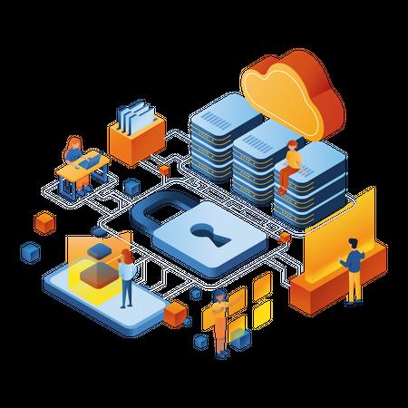 Secure data server Illustration