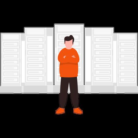 Secure data storage Illustration