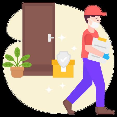 Secure delivery Illustration