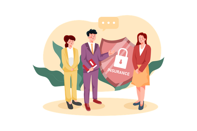 Secure Insurance Policy Illustration