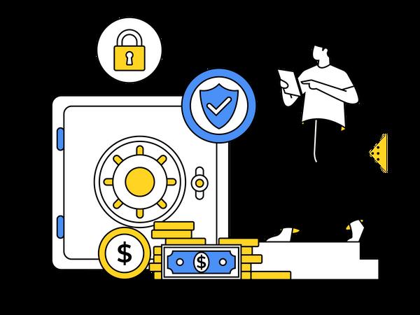 Secure Investment in Vault Illustration