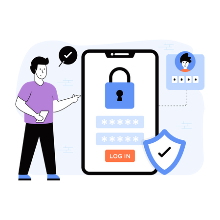 Secure Login Illustration