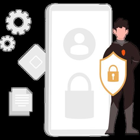 Secure mobile device Illustration
