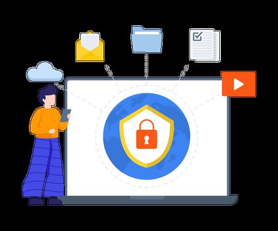 Secure Network Illustration