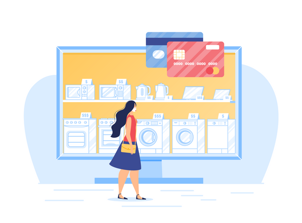 Secure Online Electronic Shopping in Quarantine Illustration