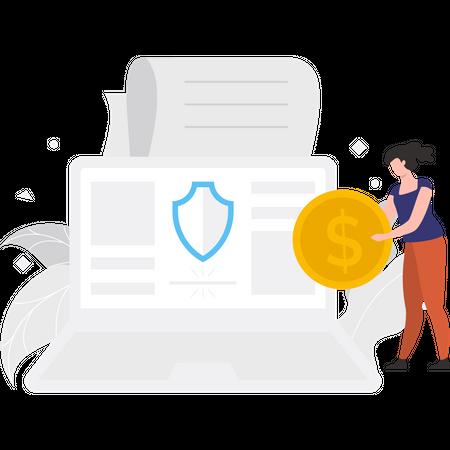 Secure online payment Illustration