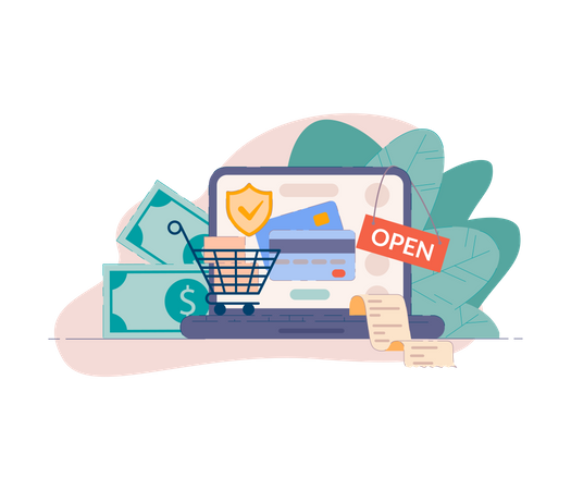 Secure payment method Illustration