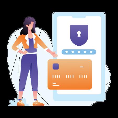 Secure transaction Illustration