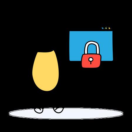 Secure Website Illustration