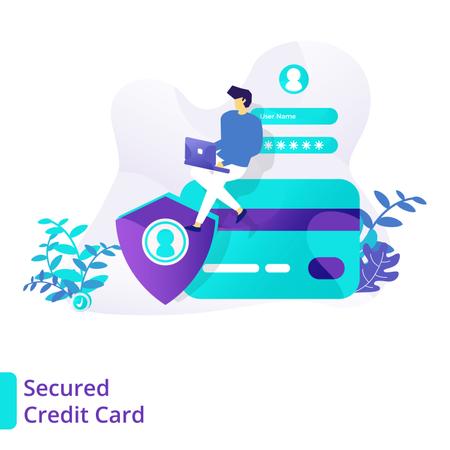 Secured Credit Card Illustration