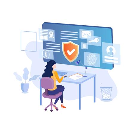 Secured data Illustration