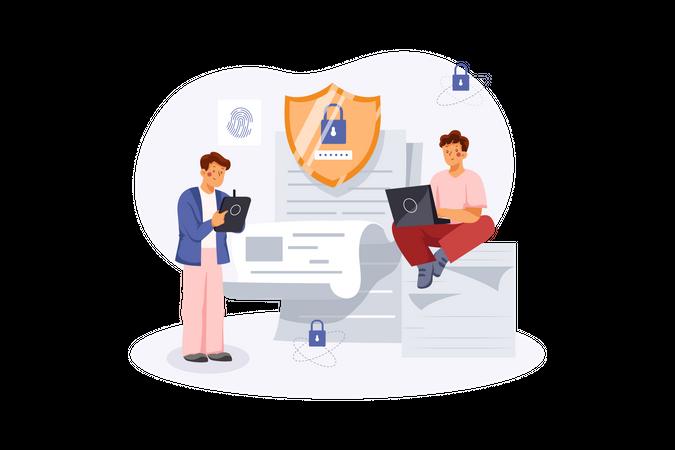 Secured user file Illustration