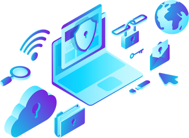 Security and Data Protection Illustration