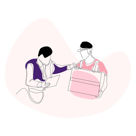 Security check of delivery Illustration
