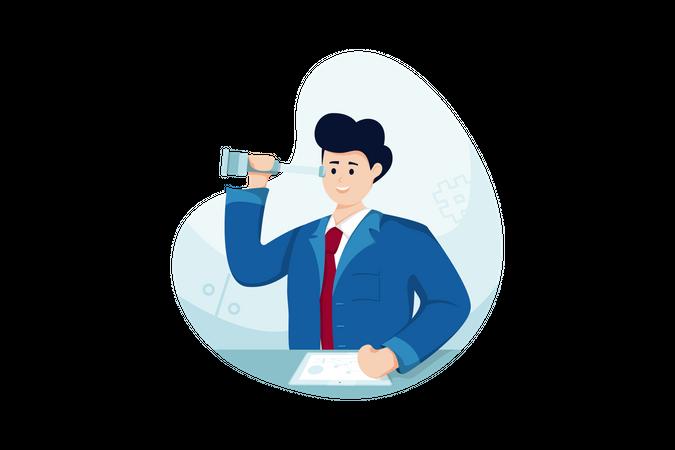 Seeking Employment Illustration