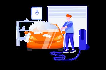 Car Garage Illustration Pack