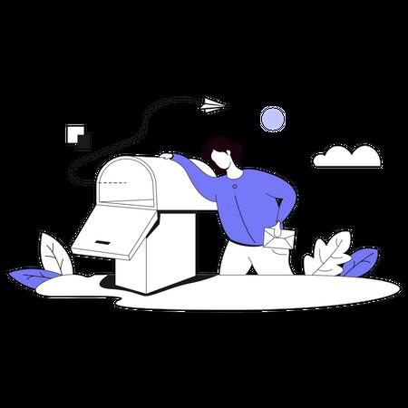 Send Mail Illustration