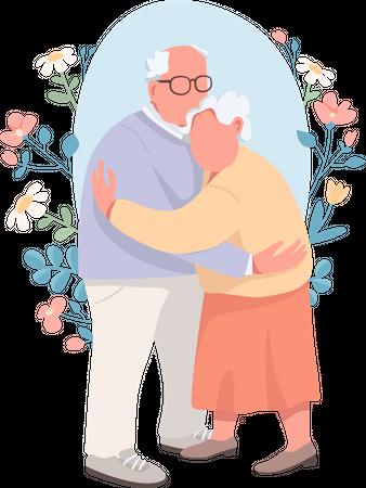 Senior couple Illustration