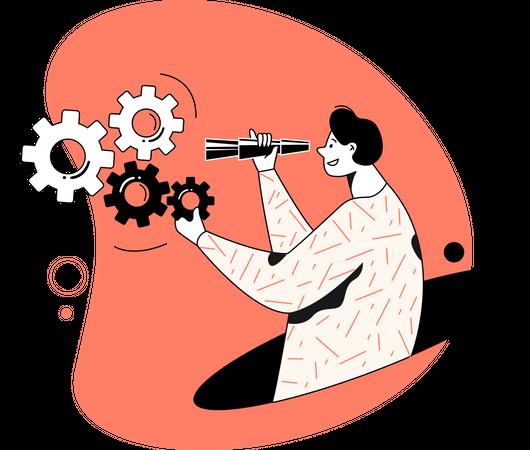 Seo expert Illustration