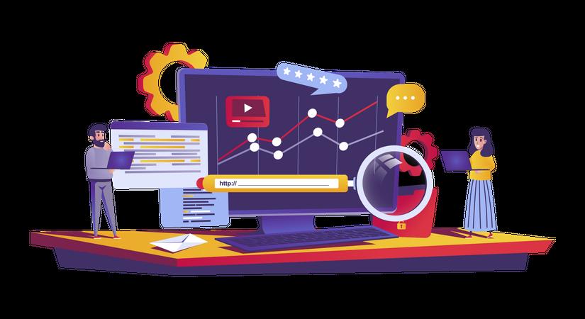 Seo optimization Illustration