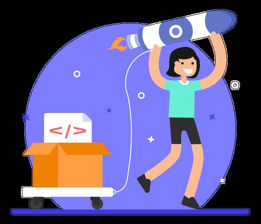 SEO startup Illustration