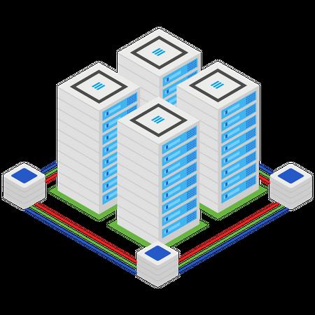 Server Architecture Illustration