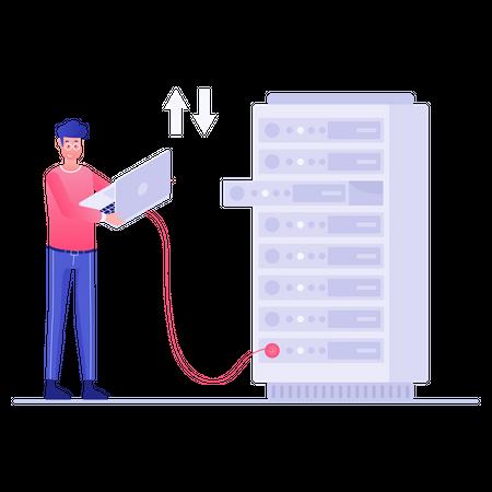 Server manager Illustration