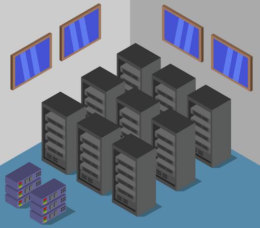 Server room Illustration