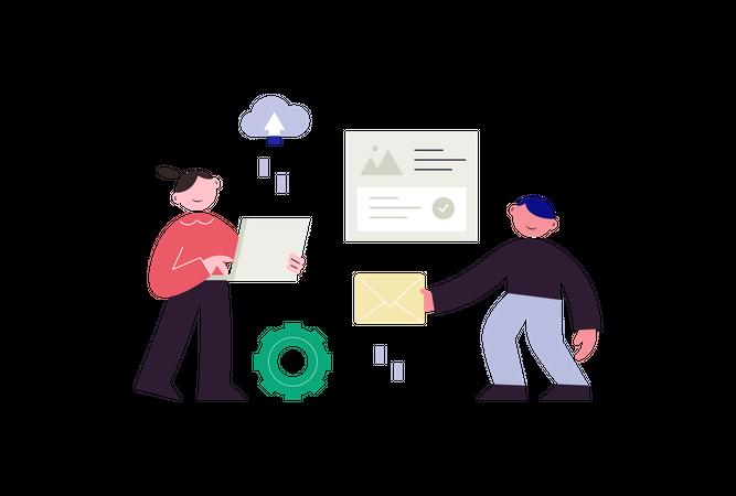 Services Automation Illustration