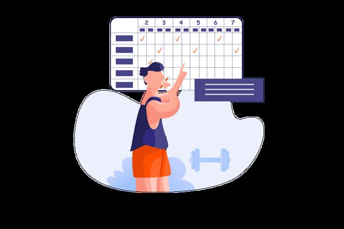 Set your goals Illustration
