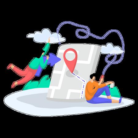 Share Location Illustration