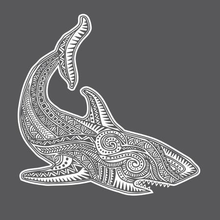 Shark Tribal Illustration