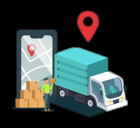 Shifting Business Location Illustration