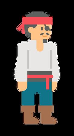 Ship bandit Illustration