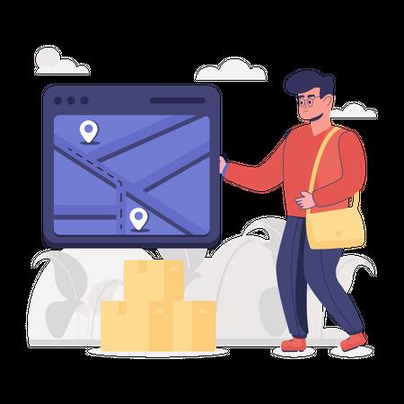 Shipment Tracking Illustration