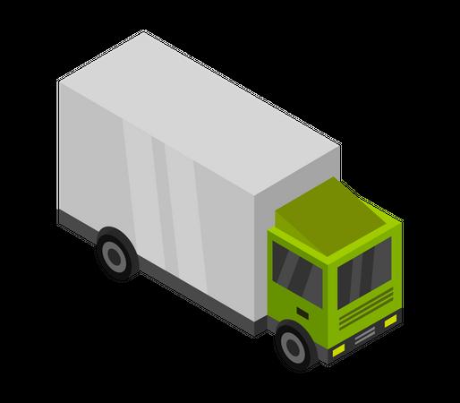 Shipment Truck Illustration