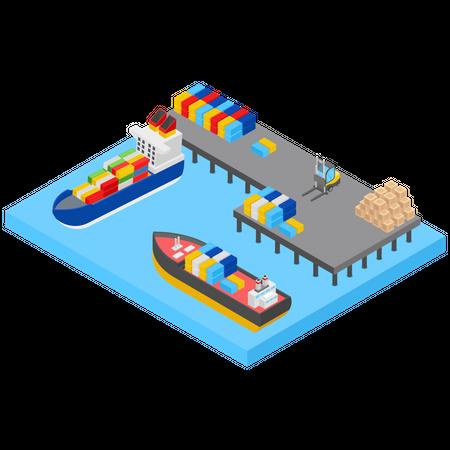 Shipment Yard Illustration