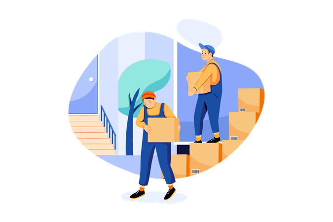 Shipping and Delivery Services Illustration