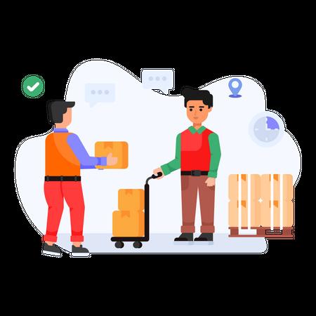 Shipping Partnership Illustration