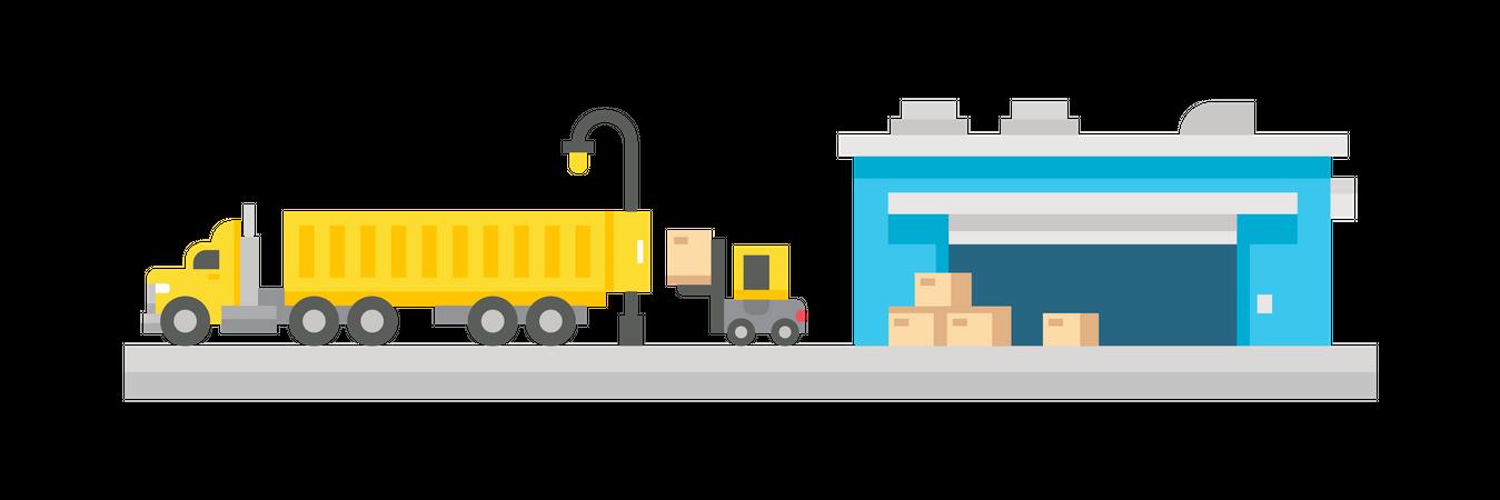 Shipping service Illustration