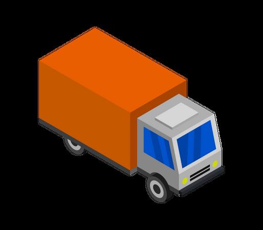Shipping Truck Illustration