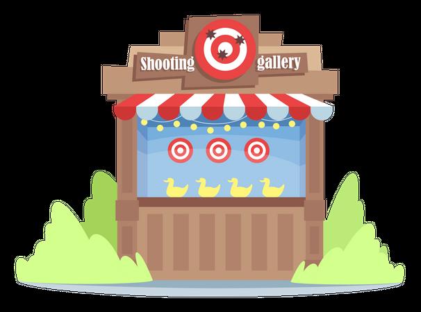Shooting game Illustration