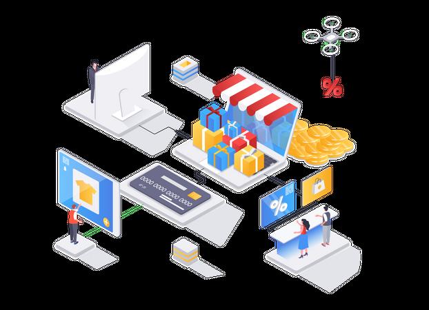 Shop loyalty program Illustration