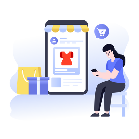 Shopping App Illustration