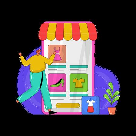 Shopping Application Illustration