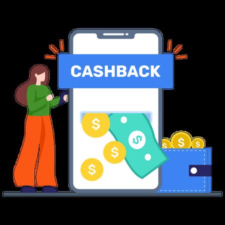 Shopping Cashback offer Illustration