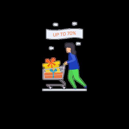 Shopping Discount Illustration