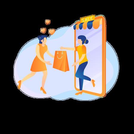 Shopping sale offer Illustration