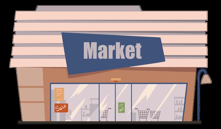 Shopping Market Illustration